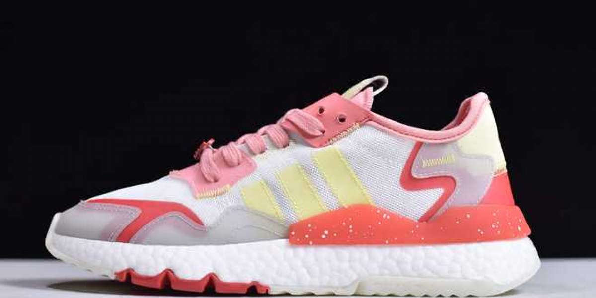 FX3815 WMNS Adidas Nite Jogger Boost Red/Pink-Yellow Shoes