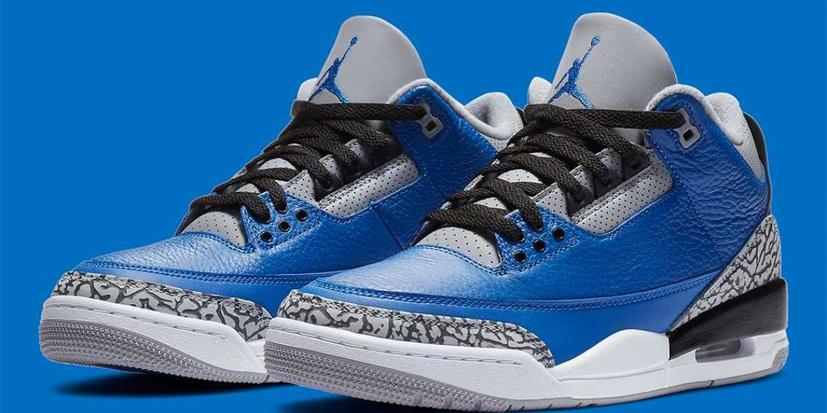 """New Release Air Jordan 3 """"Varsity Royal"""" CT8532-400 of June 26th"""