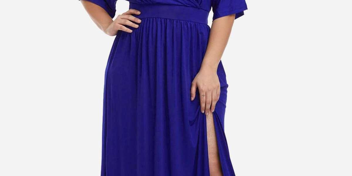 Purple V-Neck Long Sleeve Shirt Dress