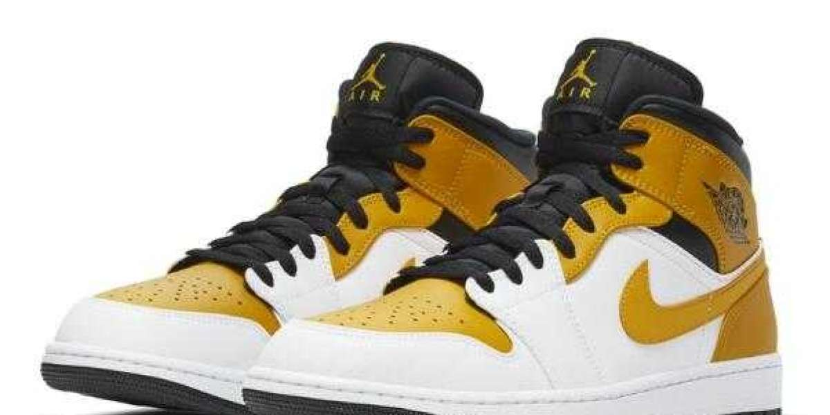 New Fashion Air Jordan 1 Mid White Yellow Black Will Release Soon