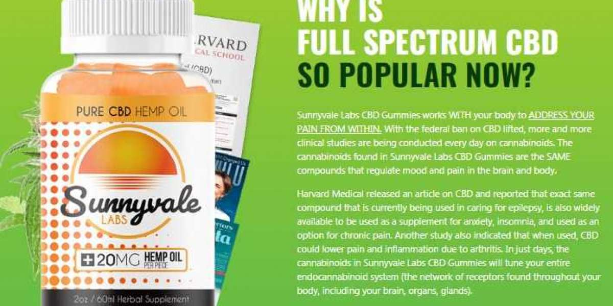Sunnyvale Labs CBD Gummies Revitalize Health, Anxiety, & Insomnia