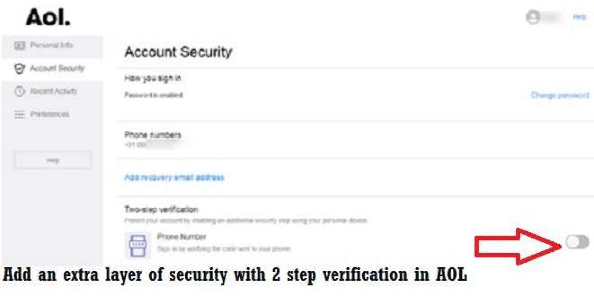 Add an extra layer of security with 2 step verification in AOL